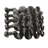 Hurtowa najwyższej klasy dziewiczy brazylijski korpus fali ludzkiego włosa 5bundles 500g lot naturalny oryginalny kolor włosów miękka i