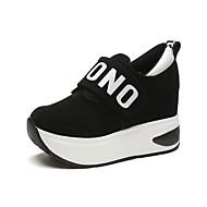 Damen Sneaker Komfort Frühling Herbst Stoff Normal Flacher Absatz Schwarz Grau Rot Flach