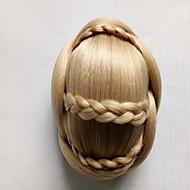 Kinky ouro encaracolado noiva tecer chignons cabelo humano sem tampa perucas 1003