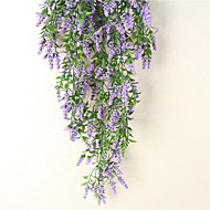 Imitation artificial flower vine green plant leaves decorate the new lavender wall hanging flower decoration