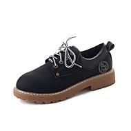 Ženske Oksfordice Udobne cipele Jesen PU Formalne prilike Vezanje Ravna potpetica Crn Vojska Green Tamno smeđa 5 cm - 7 cm