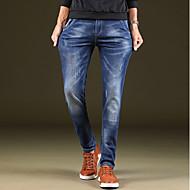 Bărbați Zvelt Simplu Talie Medie,Micro-elastic Skinny Blugi Pantaloni Mată
