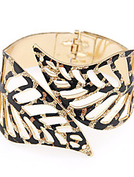 European Style Hollow Leaves Exaggerated Fashion Bangles Christmas Gifts