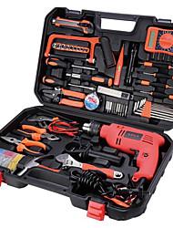 multifonctions boîte à outils en métal, un grand rechargeable kit d'outils de forage home / électrique réparation des outils à main kit
