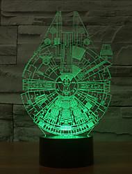 Millennium Falcon 3D conduziu a luz da noite 7colorful decoração atmosfera lâmpada de iluminação novidade luz de Natal