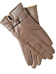 lederen handschoenen (kaki)