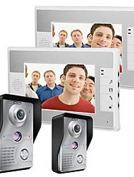 Mountainone 7 palcový video door door dveřní telefon intercom kit 2-kamera 2-monitor noční vidění
