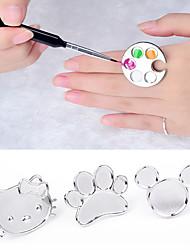 aranyos köröm fém gyűrű ujját paletta keverés akril gél lakk festés rajz színes festék étel manikűr