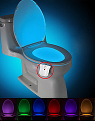 brelong opgewaardeerd waterdicht motion geactiveerde wc-nachtlampje leidde wc lichte badkamer wasruimte DC4.5V