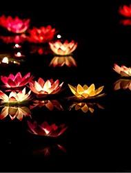 誕生日のキャンドルランプ水提灯の結婚式の装飾のramdon色をフローティングランプ奉納ろうそくを希望バレンタインデーの贈り物の蓮