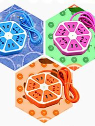 smart socket sitron multifunksjonelle fire usb ladeport sikkerhet socket fargerik frukt