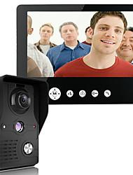 mountainone 9 palců Video dveřní telefon zvonek intercom kit 1 kamera 1 monitor noční vidění