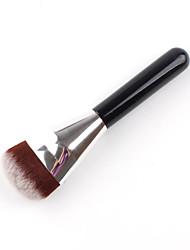 1шт Кисть для пудры Кисть для основы Синтетические волосы Алюминий Дерево Лицо
