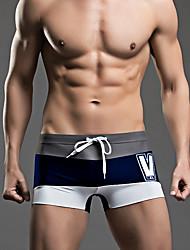 Heren Slips, shorts en broeken Kleurenblok Sport Retro Inrijgen,Kleurenblok