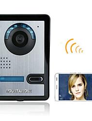 720p bezdrátový wifi video dveřní telefon doorbel intercom systém noční vidění vodotěsný fotoaparát s dešťovou krytkou