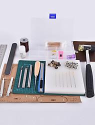 Boîte à outils en cuir fait à la main en coton et au crabe