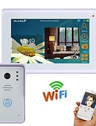 720p 7 tft kabelový / bezdrátový wifi ip video door door telefonní systém intercom s 1000tvl drátové kamery noční vidění