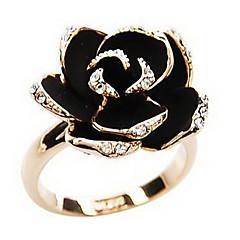 Naisten Tyylikkäät sormukset Säädettävä Avoin Vintage Eurooppalainen pukukorut Tekojalokivi Metalliseos Flower Shape Rose Korut