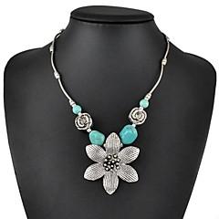 Dame Turkis Blomsterformet Turkis kostyme smykker Smykker Til