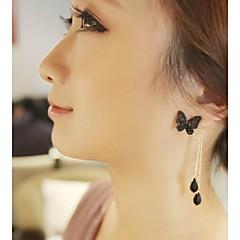 Femme Boucles d'oreille goutte Cristal bijoux de fantaisie Alliage Forme de Noeud Bijoux Pour Mariage Soirée Quotidien Décontracté Sports