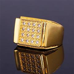 Miesten Nauhasormukset Cubic Zirkonia Birthstones Statement-korut Personoitu ylellisyyttä koruja pukukorut Zirkoni Cubic Zirkonia Gold