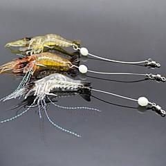 """3 個 ソフトベイト ルアー ソフトベイト エビ オレンジ ホワイト イエロー ランダム色 グラム/オンス,90 mm/3-1/2"""" インチ,ソフトプラスチック 海釣り 川釣り ルアー釣り"""
