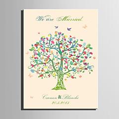 הדפסי דואר home® אישית ציור טביעת אצבע בד חור' צבע של העץ (כולל 12 צבעי דיו)