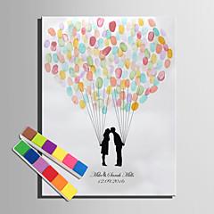 הדפסי דואר home® אישית ציור טביעת אצבע בד - מאהב של נשיקות (כולל 12 צבעי דיו)
