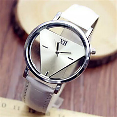 Mulheres Relógio de Moda Quartzo PU Banda Preta Branco Azul Vermelho Branco Preto Vermelho Azul