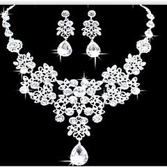 Žene Komplet nakita Naušnica Bib ogrlice Moda Double-layer Nakit sa stilom kostim nakit Imitacija dijamanta Ispustiti Füllbevalók Ogrlica