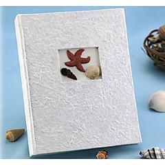 Plážový motiv / Asijská motiv / Klasický motiv Pryskyřice fotoalba Bílá