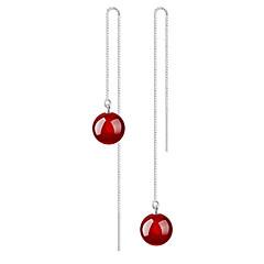 Onyx Boucles d'oreille goutte Bijoux Mariage Soirée Quotidien Décontracté Imitation de perle 1 paire Argent
