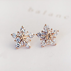 Femme Boucles d'oreille goujon Boucles d'Oreille Mode Mariée bijoux de fantaisie Zircon Imitation Diamant Forme d'Etoile Bijoux Pour
