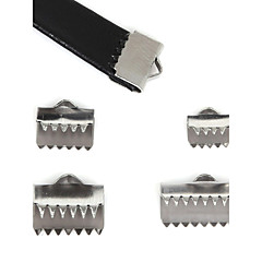 Beadia 40Pcs Stainless Steel End Caps & Connectors & Crimp Beads Cover For Jewelry Making (Mixed 4 Sizes)