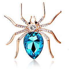 personalidade da moda bonito broche aranha grande cristal de diamante broche requintado presente da jóia das mulheres