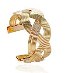 Naisten Rannekkeet Muoti Metalliseos Tube Shape Hopea Kultainen Korut Varten 1kpl