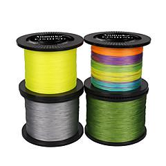 100/110 יארד / 300/330 יארד / 500M / 550 יארד PE  / Dyneema חוט קלוע ירוק / לבן / צהוב / אפור / אדום / כחול / צבעים אקראיים / מרובה צבעים