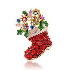 Feminino Broches Chrismas Moda Jóias de Luxo Imitações de Diamante Vermelho Jóias Para Diário Casual Presentes de Natal