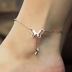 Žene Kratka čarapa/Narukvice Dragi kamen Titanium Steel 18K zlato Imitacija dijamanta Moda Slatka Style luksuzni nakitAnimal Shape Rukav
