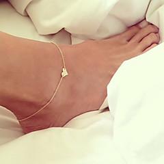 נשים תכשיט לקרסול/צמידים סגסוגת אהבה ארופאי תכשיטים Heart Shape תכשיטים עבור חתונה יומי