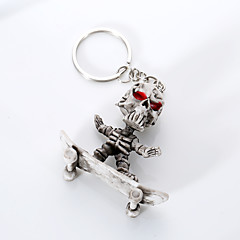 Europe And The United States High-Grade Quality Key Chain Creative Boutique Rubber Skateboard Skeleton Hang Key Ring