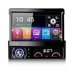 7-дюймовый съемный 1 дин DVD-плеер автомобиля мультимедиа противоугонная система GPS сидел навигационную Bluetooth экс-тв зеркальным