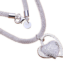 Women's Pendant Necklaces Heart Sterling Silver Love Heart Bridal Costume Jewelry Jewelry For Wedding Party Anniversary Birthday Daily