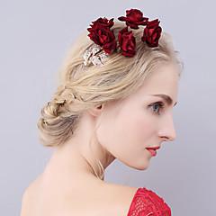 נשים סגסוגת קטיפה כיסוי ראש-חתונה אירוע מיוחד פרחים כומתה קליפס לשיער חלק 1