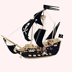 Puzzles Holzpuzzle Bausteine Spielzeug zum Selbermachen Schiff 1 Holz Elfenbein Model & Building Toy