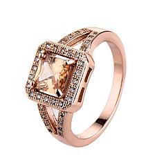 Damen Ring Kubikzirkonia Simple Style Modisch Modeschmuck Zirkon Kubikzirkonia Aleación Schmuck Für Normal