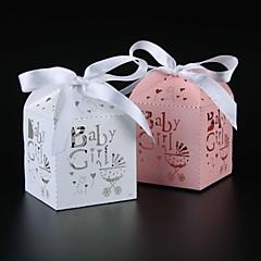 50 Adet/Set Favor Tutucu-Kuboid İnci Kağıdı Hediye Kutuları Kişiselleştirilmemiş