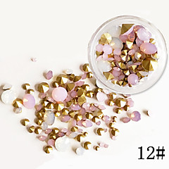 75 Nail Art Decoration tekojalokivi Pearls meikki Kosmeettiset Nail Art Design