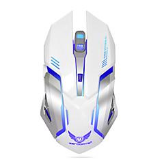 Genopladelig trådløs gaming mus 7-farve baggrundsbelysning ånden komfort gamer mus til computer desktop laptop notesbog pc