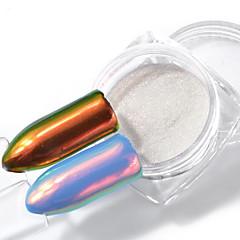 0,2 g yksisarvinen jauhe merenneito nail art kromi pigmentti manikyyri koristeet tip kimaltelee kynnet